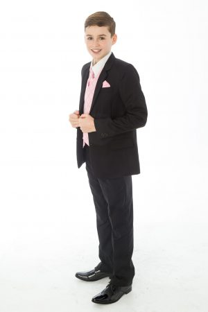 5 Piece Black with Pink Alfred