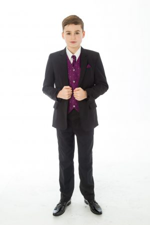 5 Piece Black with Purple Alfred