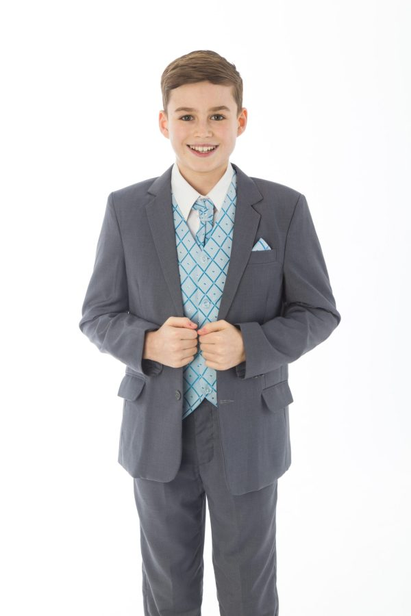 5 Piece Grey with Blue Alfred