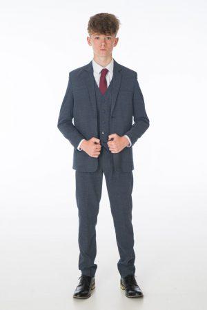 Boys 5 Piece Suit in Navy Oscar