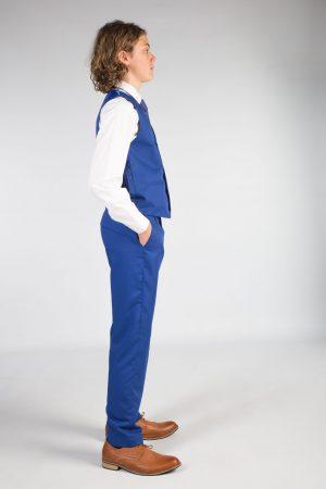Boys 5 piece suit in Blue Romario