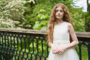 Girls white dress Eliza