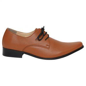 Boys Brown Matte Derby Shoe