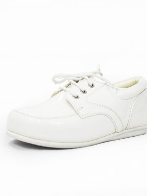 Boys Shoes Early Steps White Royal Patent Loafers