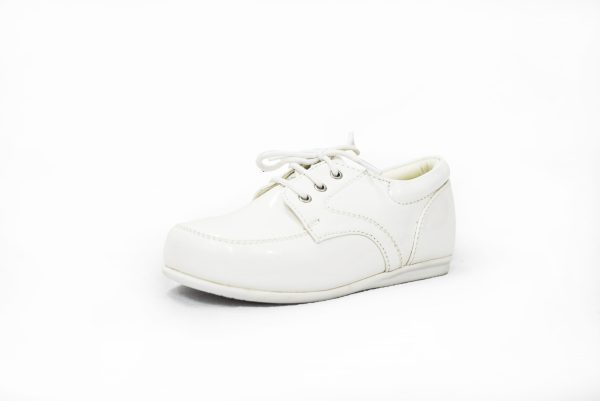 Early Steps White Royal Patent Loafers