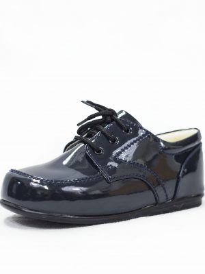 Boys Shoes Early Steps Navy Patent Royal Loafers