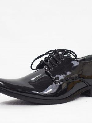 Boys Shoes Boys Black Patent Derby Shoe