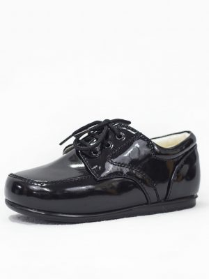 Boys Shoes Early Steps Black Patent Royal Loafers