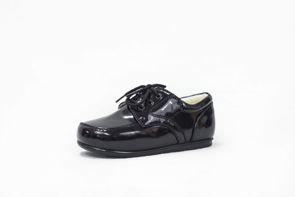 Early Steps Black Patent Royal Loafers