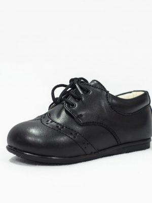Boys Shoes Early Steps Black Matte Brogue