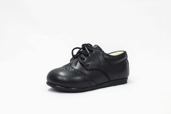Early Steps Black Matte Brogue