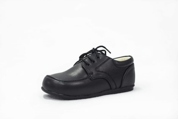 Early Steps Black Matte Royal Loafers