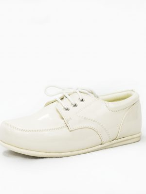 Boys Shoes Early Steps Cream Patent Royal Loafers