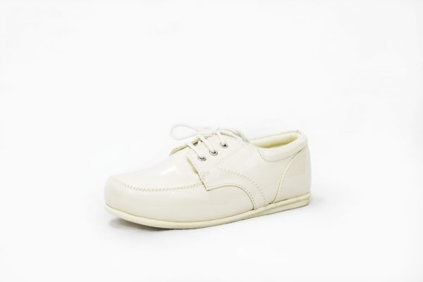Early Steps Cream Patent Royal Loafers