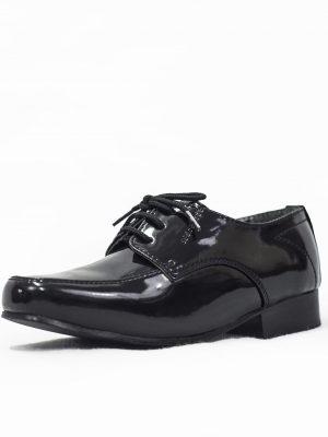 Boys Shoes Boys Black Patent William Shoe