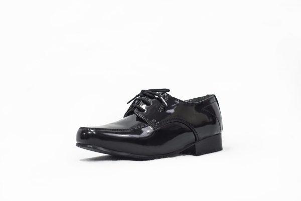 Boys Black Patent William Shoe