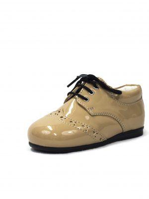Boys Shoes Early Steps Beige Brogue