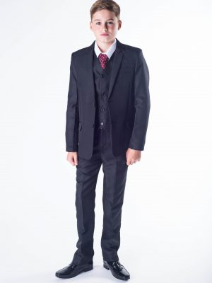 Baby Boys Suits Boys 5 piece suit Black Romario