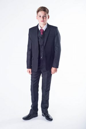 Boys 5 piece suit Black Romario