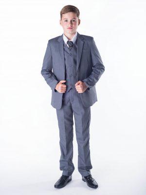 Boys Boys 5 piece suit Grey Romario