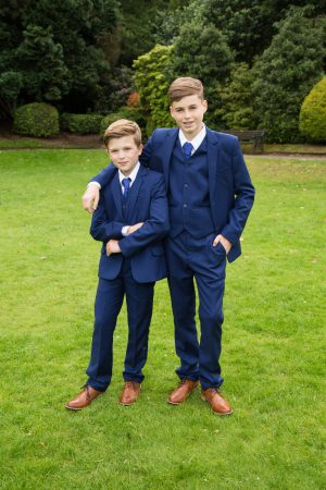 Boys 5 Piece Suit Royal Blue With Bow Tie
