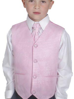 Boys 4 Piece Waistcoat Suits Boys 4 Piece Suit Grey Pink Philip