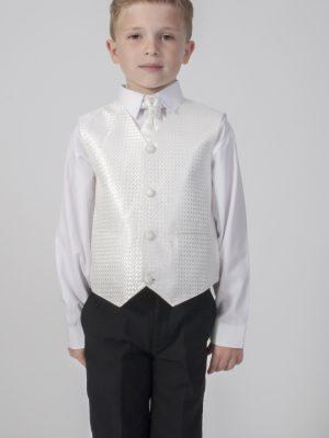 Boys 4 Piece Waistcoat Suits Boys 4 Piece Suit Black With Ivory Waistcoat Philip