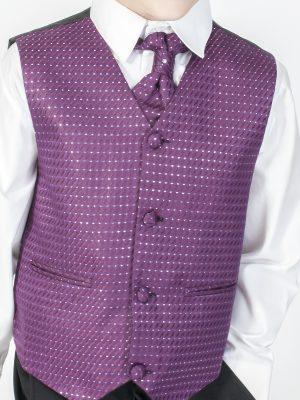 Boys 4 Piece Waistcoat Suits Boys 4 Piece Suit Black With Purple Waistcoat Philip