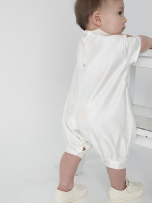 Baby Boys Suits Christopher Christening Romper in Ivory