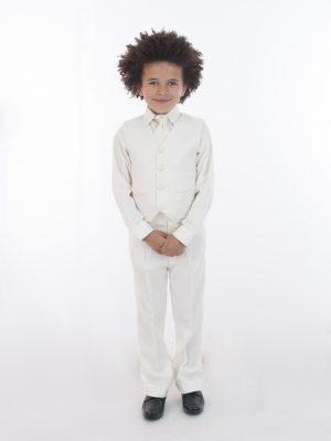 Boys 4 Piece Waistcoat Suits Boys 4 Piece All Cream Suit Philip