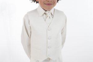 Boys 4 Piece All Cream Suit Philip