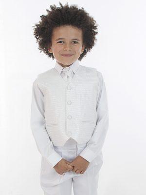 Boys 4 Piece Waistcoat Suits Boys 4 Piece All White Suit Philip