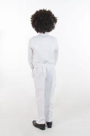 Boys 4 Piece All White Suit Philip