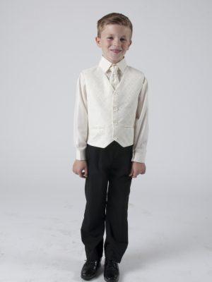 Boys 4 Piece Waistcoat Suits Boys 4 piece suit Cream Alfred
