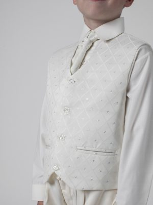 Boys suits Boys 4 piece suit All Cream Alfred