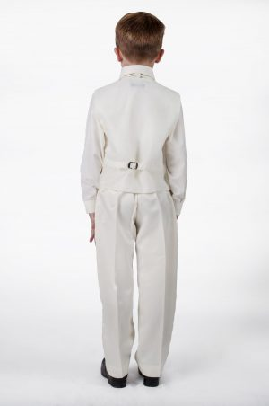 Boys 4 piece suit All Cream Alfred
