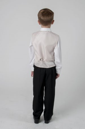Boys 4 Piece Suit With Champagne Waistcoat Henry