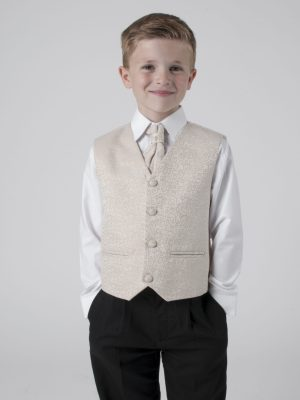 Boys 4 Piece Waistcoat Suits Boys 4 Piece Suit With Champagne Waistcoat Henry