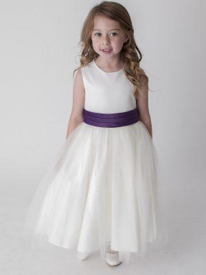Flower Girl Dresses and Bridesmaid Dresses Girls Ivory Purple Dress Kate