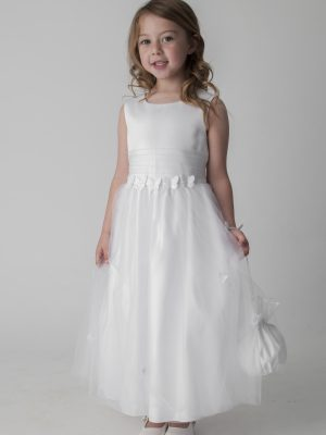 Flower Girl Dresses and Bridesmaid Dresses Girls ivory butterfly dress with bag