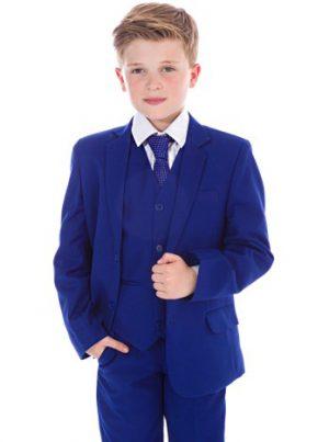 Boys 5 Piece Suit Blue Vivaki