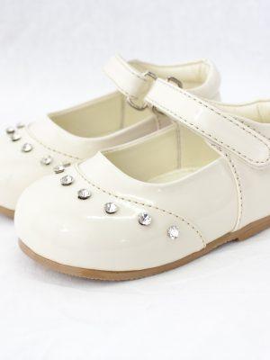 Girls Early Steps Girls Cream Fairy Diamond Shoes