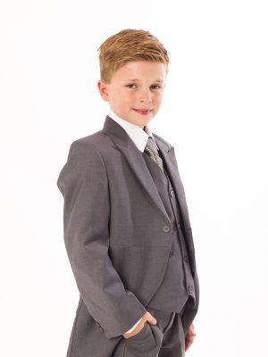 Boys 5 Piece Suits Boys 5 Piece Suit Grey Tailcoat