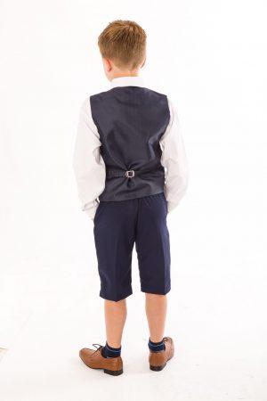Boys 4 piece Suit Navy Short Set