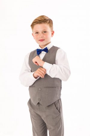 Boys 4 piece bow tie suit Grey