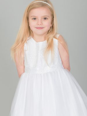 Communion Dresses Girls white dress Ava