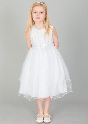 Girls white dress Ava