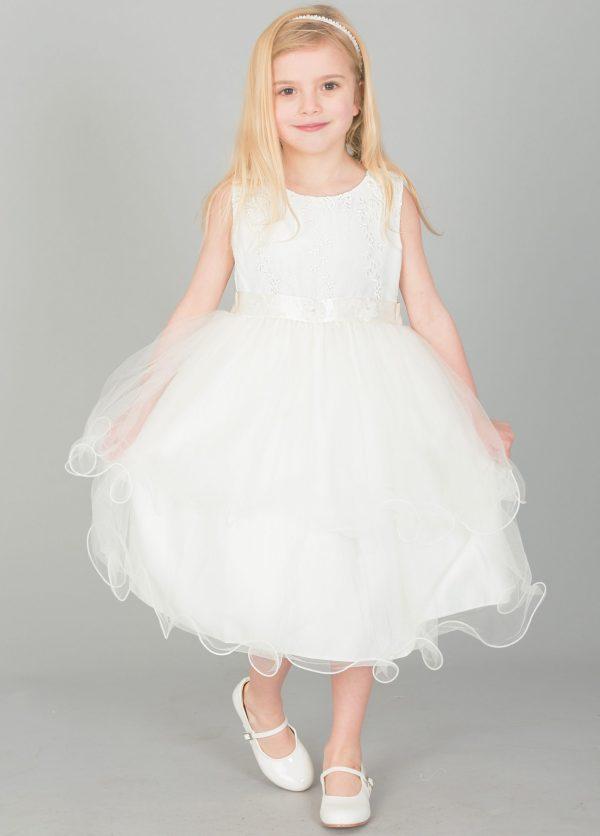 Girls ivory dress Ava