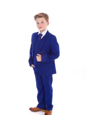 Boys 5 Piece Suits Boys 5 Piece Suit Blue Vivaki