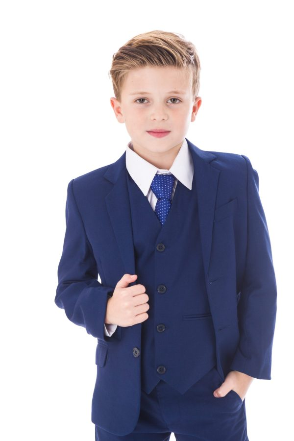 Boys 5 Piece Suit Royal Blue